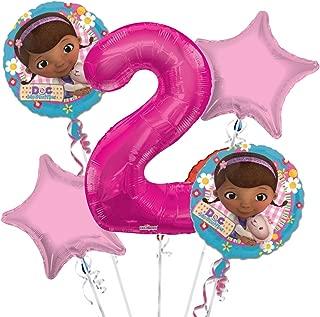 Doc McStuffins Balloon Bouquet 2nd Birthday 5 pcs - Party Supplies