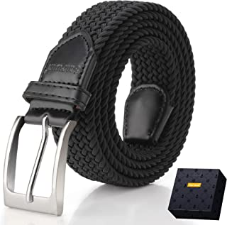 Elastic Braided Belt, Fairwin Enduring Stretch Woven Belt...