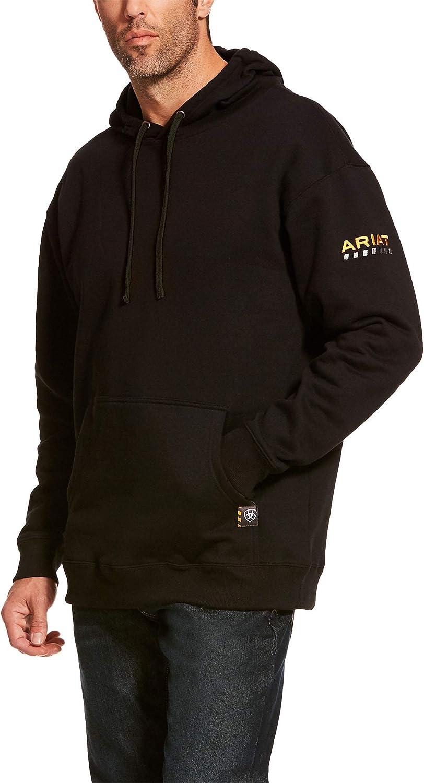 ARIAT Men's Rebar Workman Hoodie Black Size 3Xlt