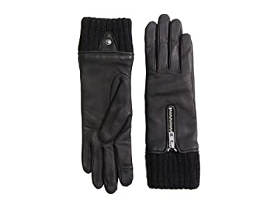 rag & bone Biker Gloves (Black) Snowboard Gloves