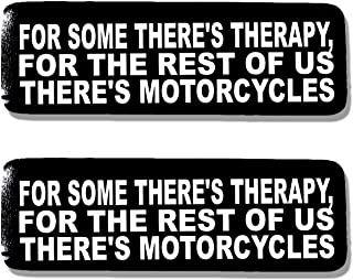 Hot Leathers, 2 x 4 SOME THERE'S THERAPY - Bikers Motorcycle Helmet, Sticker DECAL (Pair) - 4