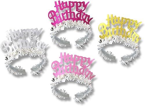 mejor reputación Beistle 6695672-Pack Feliz cumpleaños Tiaras Tiaras Tiaras con Flecos  mejor servicio