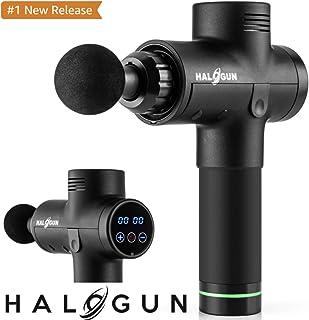 Halogun Massage Gun, 20 Speed Cordless Handheld Deep Tissue & Muscle Massager, 20 Speeds Percussion Massage Device Featuring Quiet Glide Technology