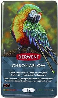 مداد رنگی Derwent Chromaflow   لوازم هنری برای طراحی ، طراحی ، رنگ آمیزی بزرگسالان   مداد رنگی Premier ، Strong Soft Core ، چند رنگ ، ترکیب   کیفیت حرفه ای   12 بسته