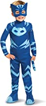 PJ Masks Catboy Costume, Deluxe Kids Light Up Jumpsuit Outfit and Character Mask, Toddler Size Large (4-6) Blue
