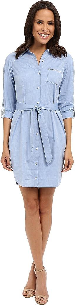 Kaylin Chambray Shirt Dress