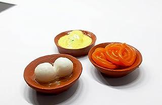 the monument shop Indian Desserts Fridge Magnet Miniature Food 3D Fridge Magnet Best Souvenir Gift 100% Made in India