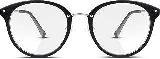 FEISEDY Rétro Lunettes Cadres Ronds Transparents Lens Lunettes Hommes Femmes B2260