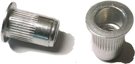 25 pcs 10-32 flat head ribbed body aluminum rivet nuts LFA-11130R … …