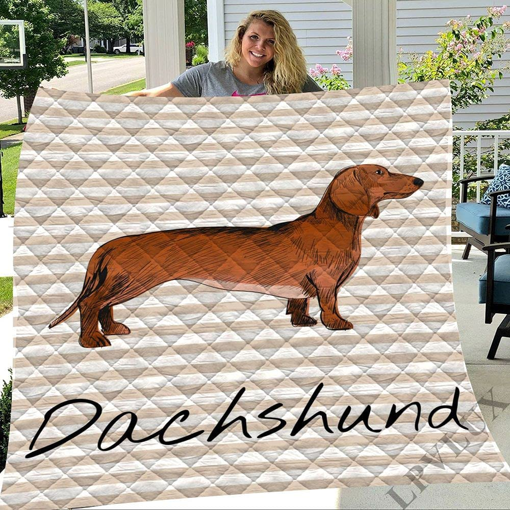 GANTEE Dachshund Throw Blanket Cartoon Dog S Bedspread New product! New type Pet Brown 2021 spring and summer new