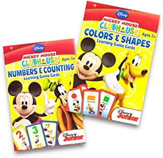 Disney Mickey Mouse Clubhouse Flash Cards (Set of 2 Decks). Colors & Shapes and Numbers & Counting Learning Game Cards