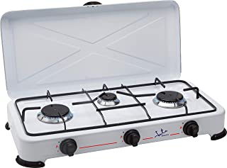 comprar comparacion Jata CC706 Cocina de Gas para Camping con 3 Quemadores con Tapa y Parrilla Apta para Todo tTpo de Gas Licuado