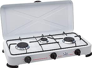 Jata CC706 Cocina de Gas para Camping con 3 Quemadores con