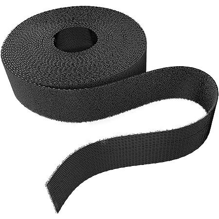KabelDirekt – 20 mm x 5 m Ruban serre-câble (réutilisable, noir)
