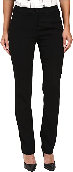 Crepe Straight Leg Pants