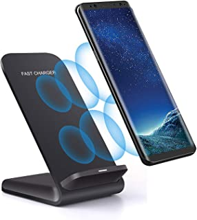 Wireless Charger Stand for iPhone 11 Pro Max,XR, XS Max,X, 8 Plus ; Samsung Galaxy Note 10+,S10+,S10,S10e,S9 Plus, S8; LG G8S,V30+; Motorola Moto X Force (Black)