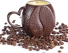 Ceramic Coffee Mug with Coffee Bean Pattern, 12 OZ 3DCoffeebeanPorcelain Cup, for Birthday, Thanksgiving, Decorative Coffee Mug for Tea, Hot Chocolate, Milk