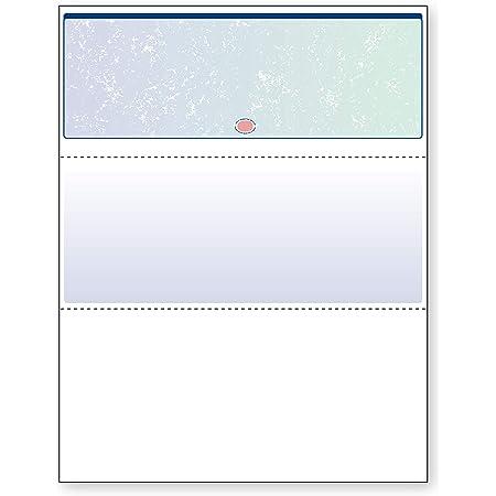 DocuGard Blue/Green Prismatic Top Check, 8.5 x 11 Inches, 24 lb, 500 Sheets, 1 Check Per Sheet (04533)