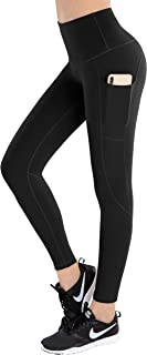 LifeSky High Waist Yoga Pants Pockets Tummy Control 4 Way Stretch Workout Pants Womens' Active Leggings
