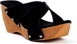 Walkfree Women Wedges Sandals, Women Footwear, Sandels for women stylish latest, ladies designer fashionable sandal ideal ...