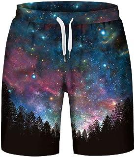 Symbol Of The Brand Purple Galaxy Space Nebula Swim Trunks Men Outdoor Water Sports Trunks Black Men's Clothing