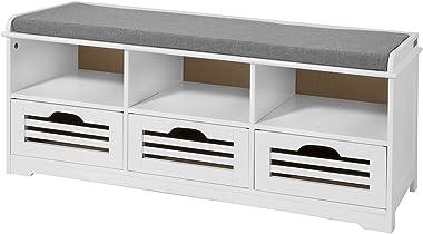 Haotian Storage Bench,Shoe Cabinet,Shoe Bench,Storage Cabinet (FSR36-W)