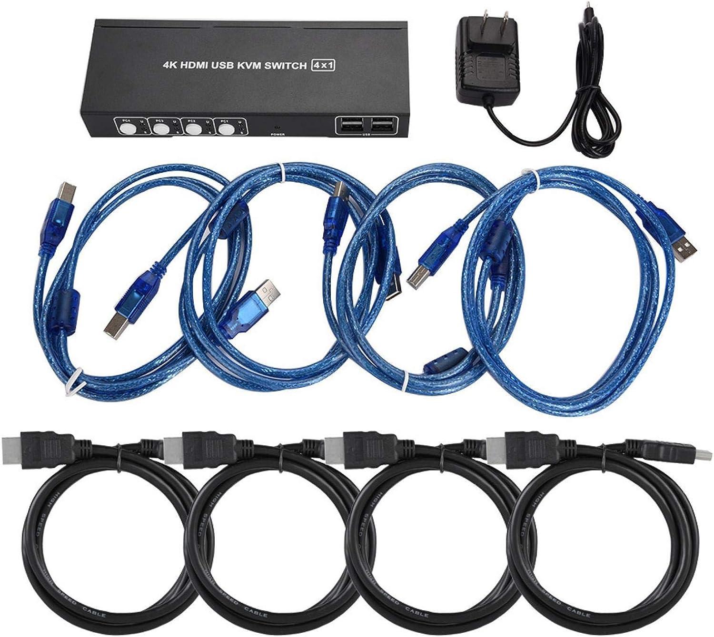 HDMI Max 68% OFF Splitter KVM online shopping Switch USB 4K Resolution 30