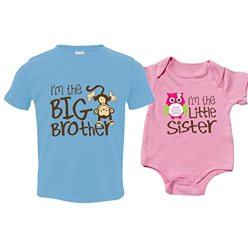 ffabdd1ca Nursery Decals and More Sibling Shirt Set for Sisters and Brothers,  Includes Im The Big