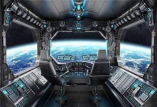 Leyiyi 10x8ft Space Station Interior Backdrop Outer Space Explore Solar System Planet Planetarium Vintage Heavy Metal Capsual Photo Background Cowboy Birthday Portrait Studio Vinyl Prop Wallpaper