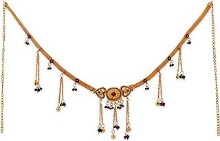 NAPP MART stylish jewelry for women Kamarband for women/girls /ladies stylish handicraft and fancy Pearl Gold Plated Kamar...