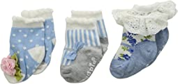 Mud Pie - Garden Rose Socks Set of 3 (Infant)