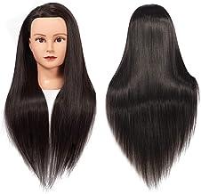 "Training Head 26""-28"" Mannequin Head Hair Styling Manikin Cosmetology Doll Head Long Hair Synthetic Fiber Hair Hairdressin..."