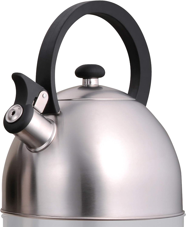 Creative Home Prelude Super intense SALE 2.1 Quart Ke Whistling Stainless Steel Tea Many popular brands