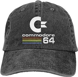 Unisex Commodore 64 Fashion,Adjustable,Vintage,Classic Baseball Cap Washed Cowboy Hat Black