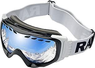 MASO Motorradbrillen Hochwertige Skibrille Anti Fog UV Schutzbrille mit Double Lens Schaumstoffpolsterung Uvex f/ür Outdoor Aktivit/äten Skifahren Radfahren Snowboard Wandern Augenschutz