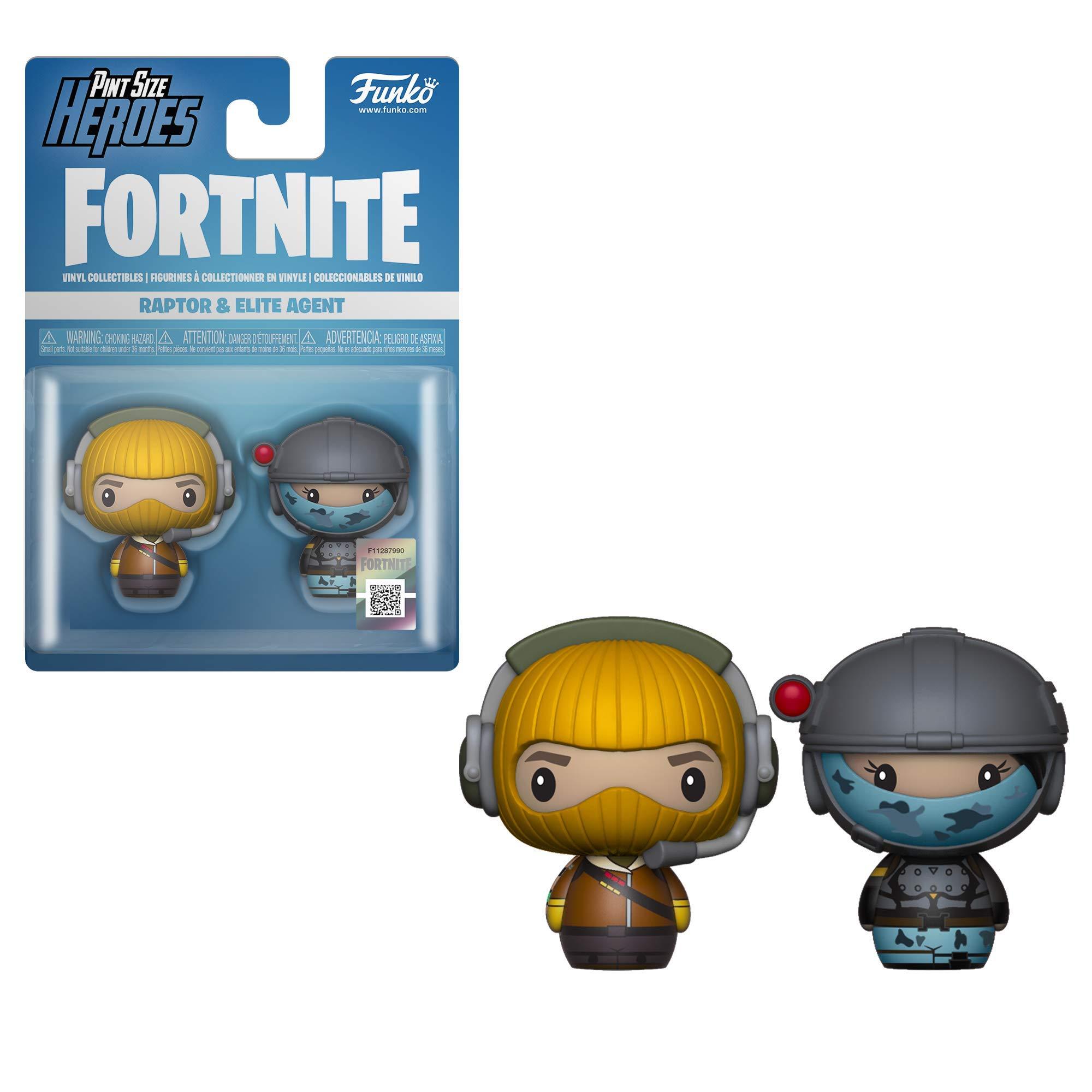 LAST LEVEL Size Pack 2 Pint Heroes FORTNITE Raptor & Elite Agent ...