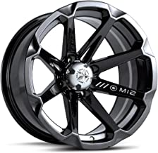 MSA OFFROAD WHEELS M12 DIESEL Gloss Black Wheel with Painted and Chromium (hexavalent compounds) (15 x 7. inches /4 x 112 mm, 10 mm Offset)