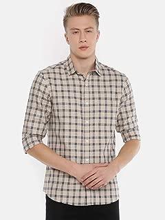 Chennis Men's White Casual Shirt