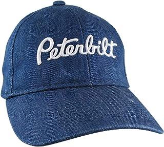 2a85b19087c08 Peterbilt Truck 3D Puff Embroidery Design on Adjustable Blue Denim  Structured Baseball Cap + Options to
