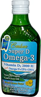 Carlson Labs, Super D Omega 3 Lemon 2000Mg, 8.4 Fl Oz
