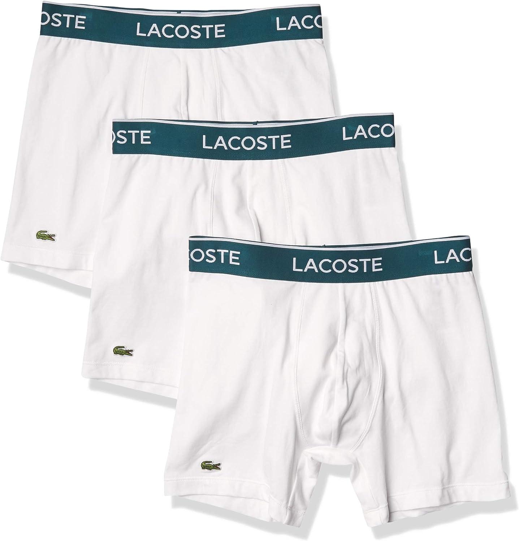 Lacoste Mens Motion Classic 3 Pack Microfiber Boxer Briefs Boxer Briefs