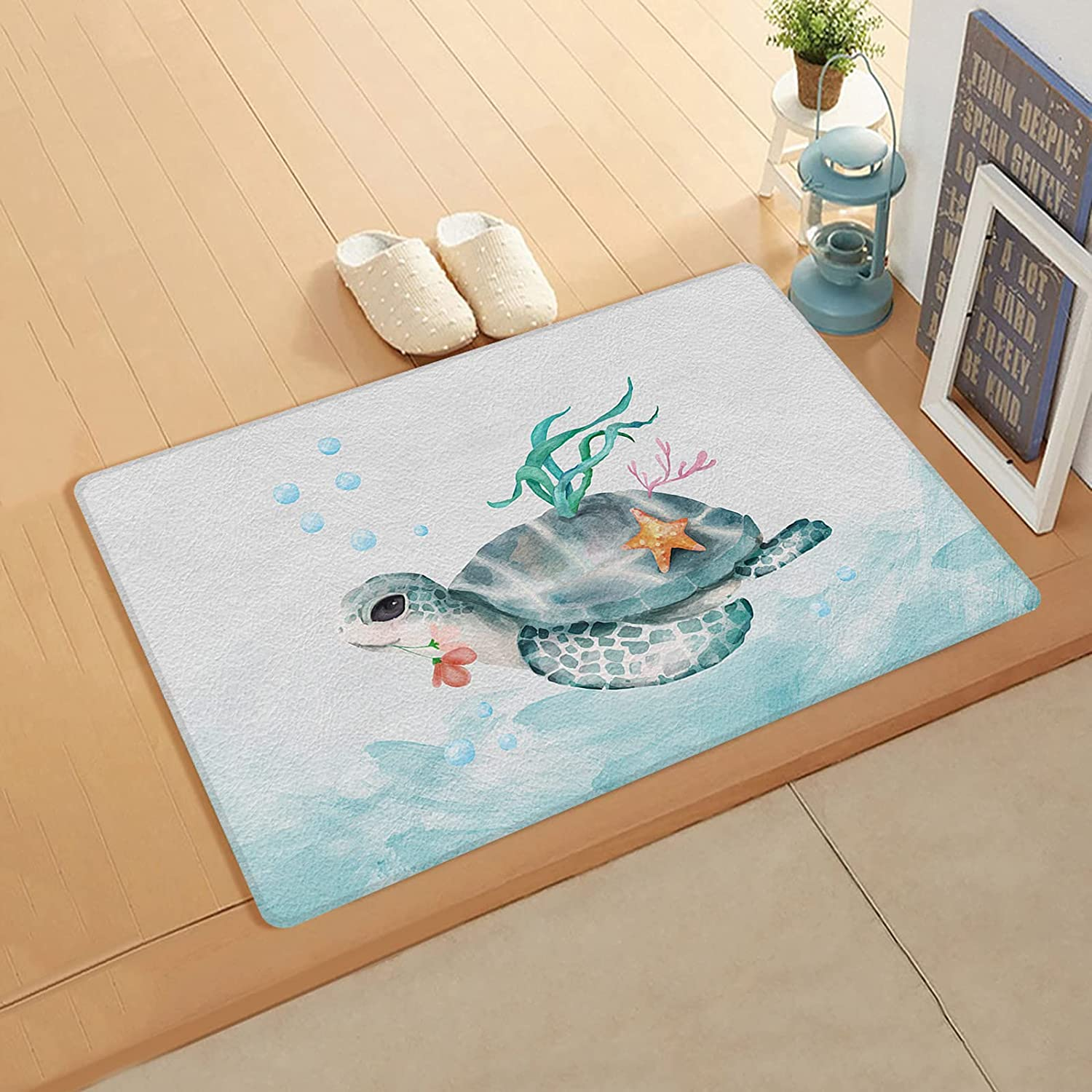 Gsypo Cushioned Anti Max 86% OFF Fatigue Kitchen Ocean safety Turtles Sea Vint Mat