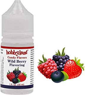 Hobbyland Candy Flavors (Wild Berry Flavoring, 1 Fl Oz), Wild Berry Concentrated Flavor Drops