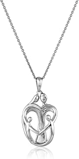 Sterling Silver Family Pendant Necklace, 18