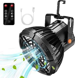 lampe camping ventilateur silencieux,HooySprs lanterne solaire exterieur ,ventilateur usb portable multifonctionnel de cam...
