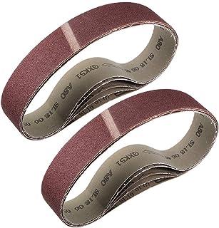 """2""""x 27"""" 80 Grit Sanding Belt Aluminiumoxid Sandpapper Bälten för Bärbar Strip Slipmaskin Efterbehandling Metal Gips Poleri..."""