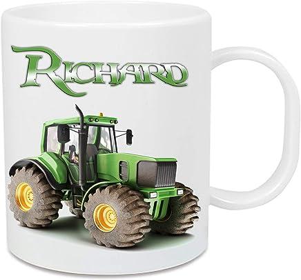 Preisvergleich für Tasse aus Kunststoff Traktor + Name