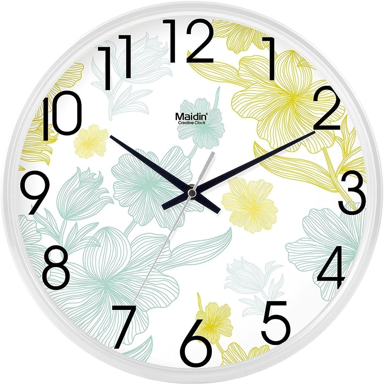 Venta al por mayor barato y de alta calidad. Reloj de parojo elegante salón oficina oficina oficina simple silencio creativo de mesa reloj reloj de cuarzo resistente a la humedad, 16 pulgadas, blancoo -717  comprar marca
