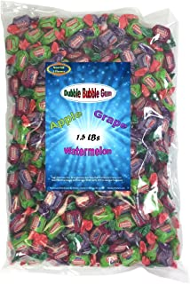 Dubble Bubble Gum 1.5 Lbs Assorted Flavors Individually Wrapped