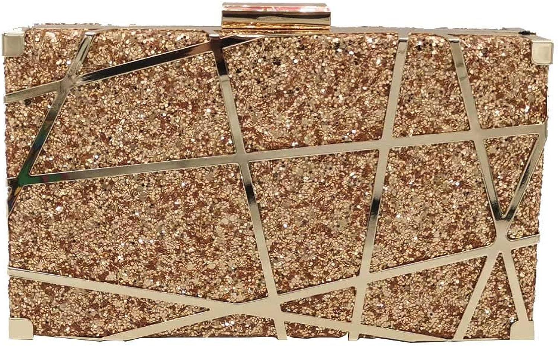 ASHIJIN Boutique Hollow Women Glitter Evening Bags Metal Clutches Chain Shoulder Crossbody Bag Ladies Clutch Bag Handbag Part